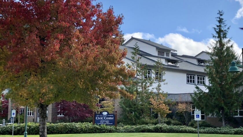 Picture of the front of Gig Harbor City Hall